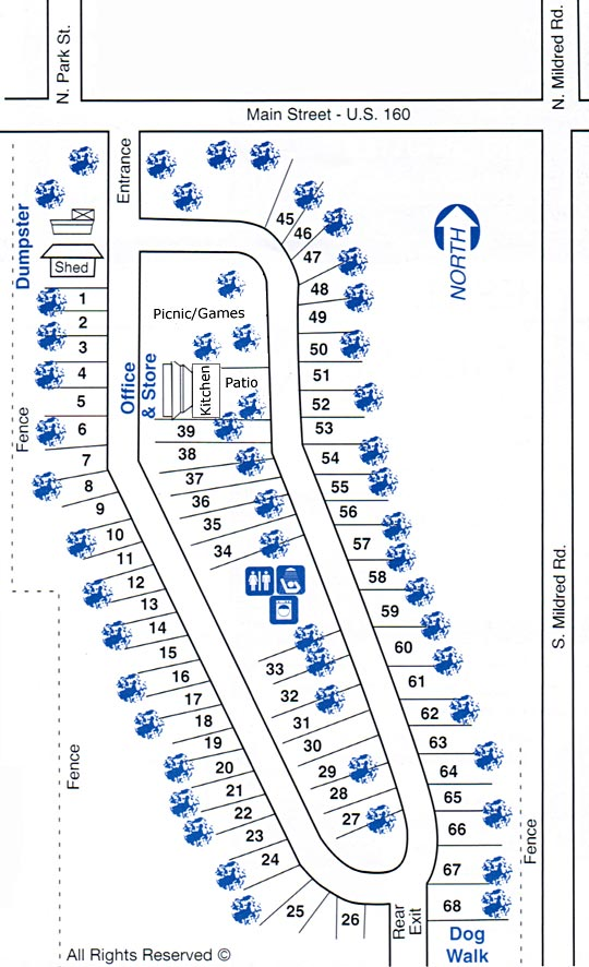 Sundance RV Park Map