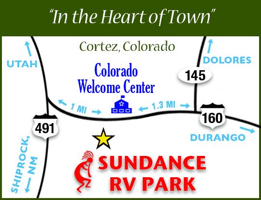 Sundance RV Park - Our Location Map